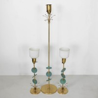 Mid-Century Rembrandt Atomic Brass Floor Lamp and Table ...