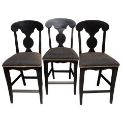 Upholstered Counter Chairs Chair Covers For Back Only French Country Style Ebth