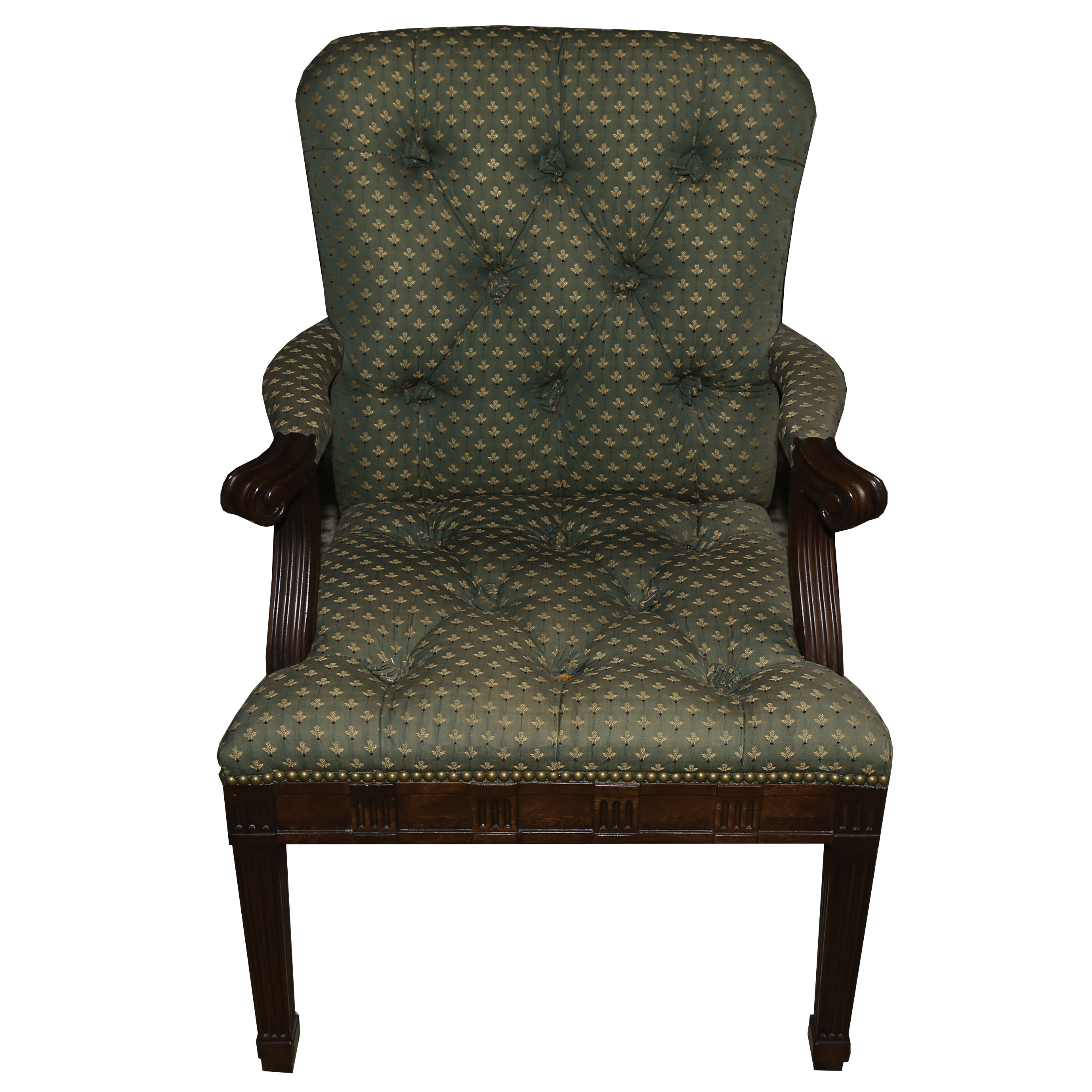 hickory chair louis xvi iron table and chairs edwardian upholstered armchair by 20th century ebth