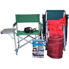 Outdoor Folding Chair With Side Table Cover Hire Reading Berkshire Camping Gear Including Chairs Attached Ebth
