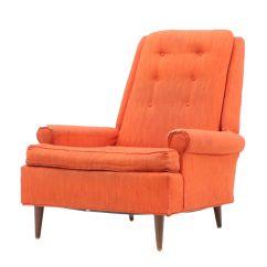 Orange Upholstered Chair Childrens Bedroom Uk Mid Century Modern Ebth