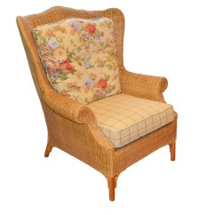 Rattan Wingback Chairs Best Full Body Massage Chair Contemporary Armchair By Lexington Casual Ebth