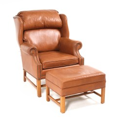 Ethan Allen Leather Chair Lazy Boy Recliner Covers Australia Arm With Ottoman Ebth