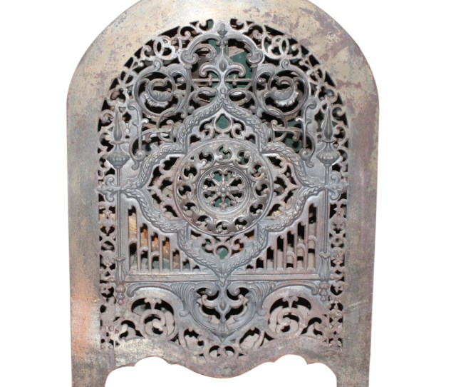 Antique Iron Fireplace Summer Cover