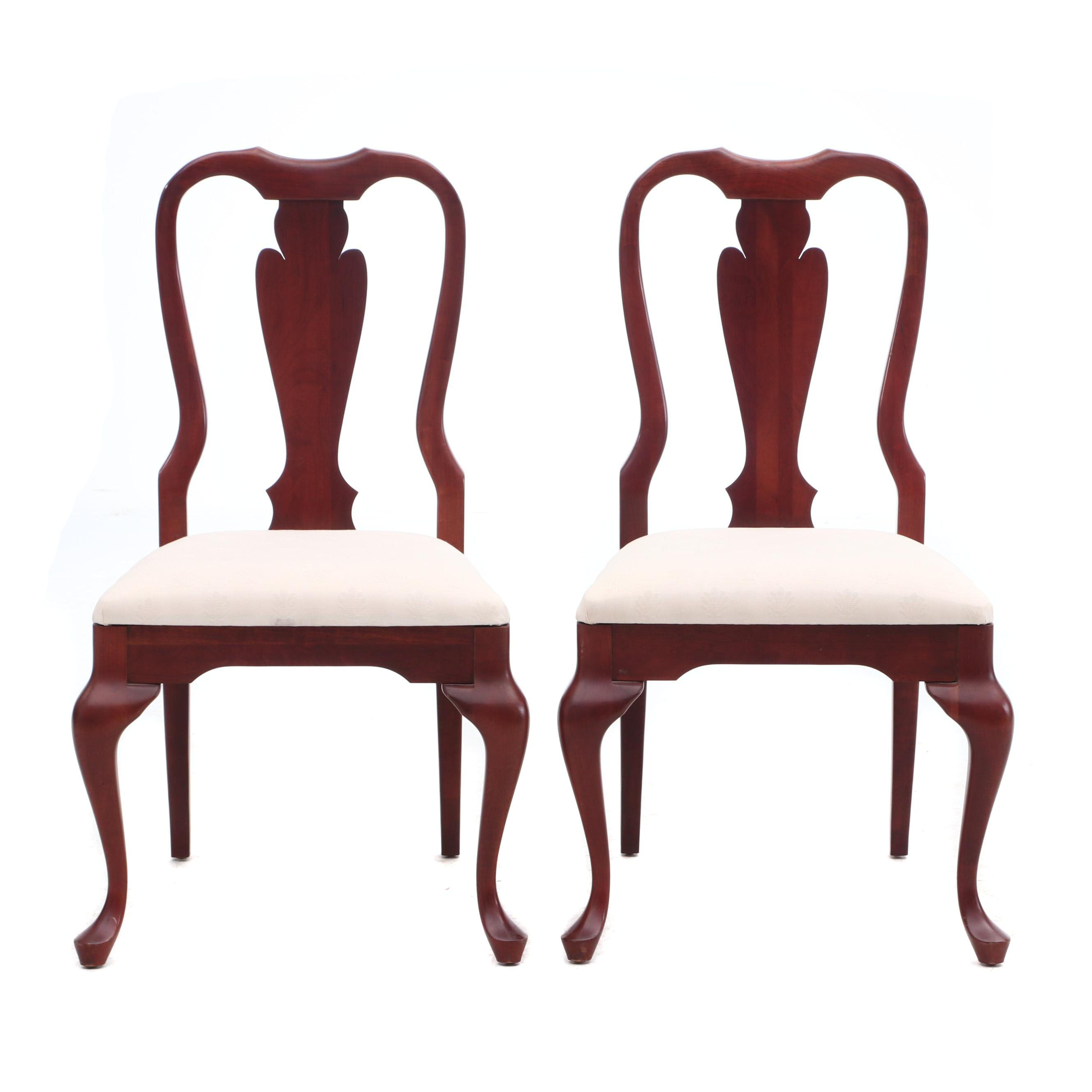 queen anne style chair swivel barrel side chairs ebth