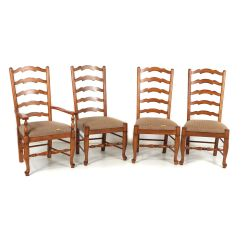 Ladder Back Dining Chairs Party Chair Covers Canada Wooden 21st Century Ebth