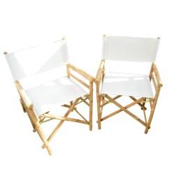 Bamboo Directors Chairs Chair Covers Uk Ltd Pair Of Danny Seo Director Ebth