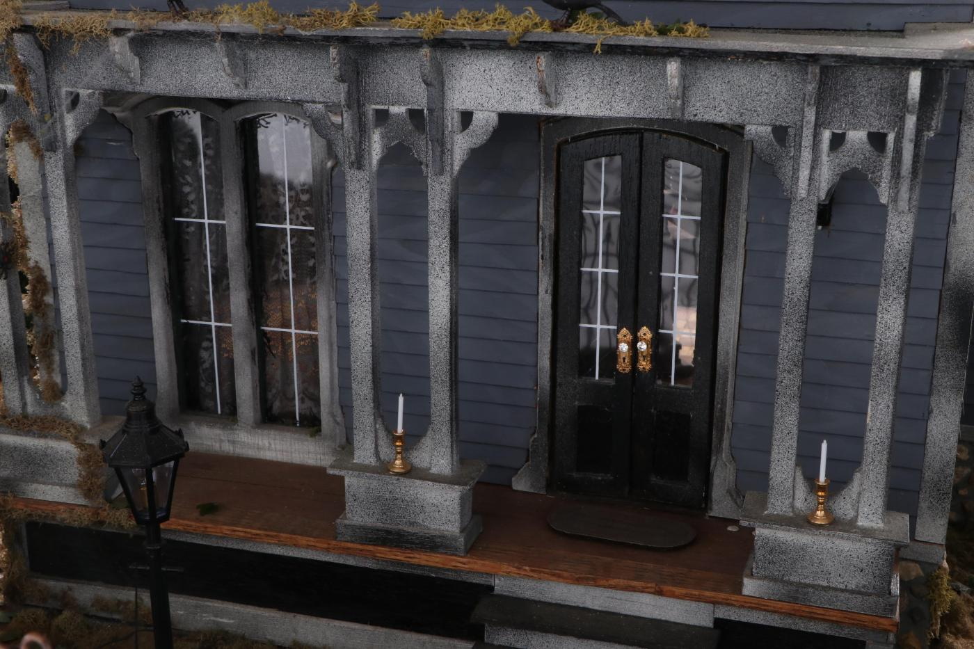 Custom Haunted House Dollhouse With Secret Rooms And