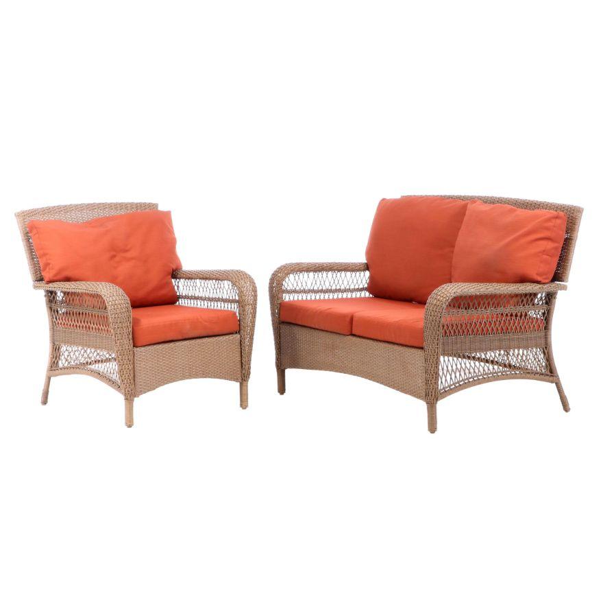 martha stewart living all weather wicker charlottetown patio furniture set