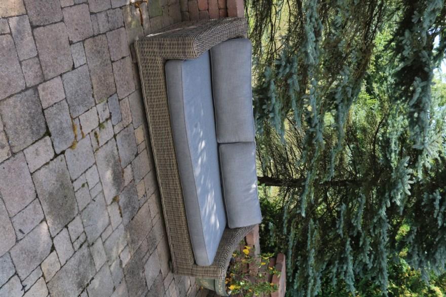 restoration hardware provence collection wicker patio sofa