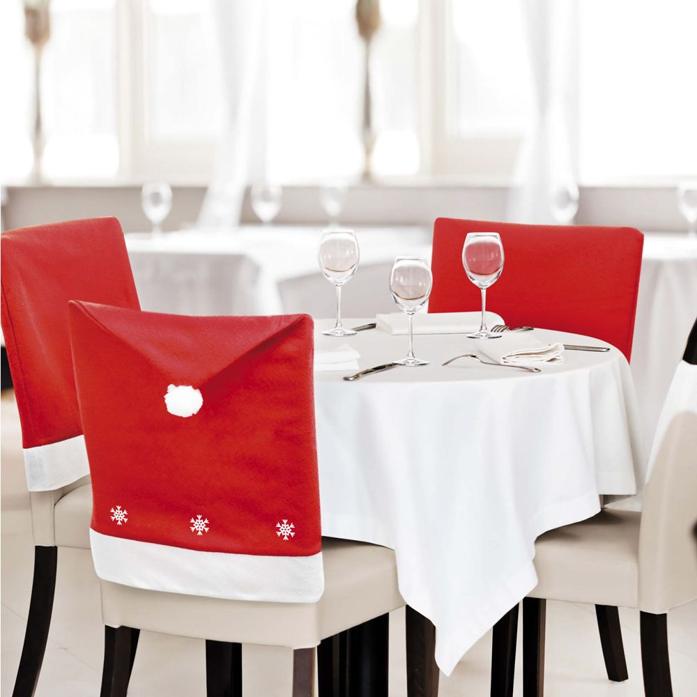 Your Chair Covers 1 20 Pack Santa Hat With Snowflakes Chair Covers