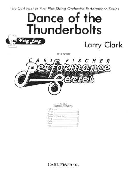 Dance Of The Thunderbolts Sheet Music By Larry Clark