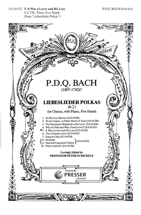 5. It Was A Lover And His Lass Sheet Music By PDQ Bach