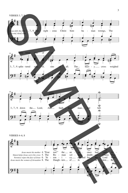 Hymn For The Stations Of The Cross Sheet Music By Robet