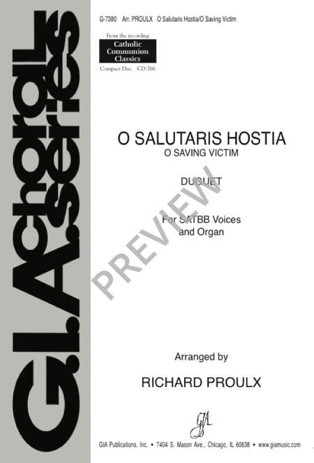 O Salutaris Hostia / O Saving Victim Sheet Music By