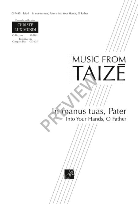 In Manus Tuas, Pater Sheet Music By Taize Community