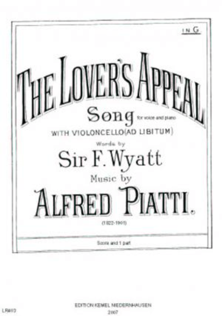 The Lover's Appeal : Song In G For Voice And Piano With