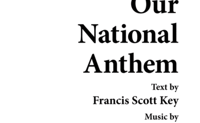 Download Our National Anthem Sheet Music By J Smith