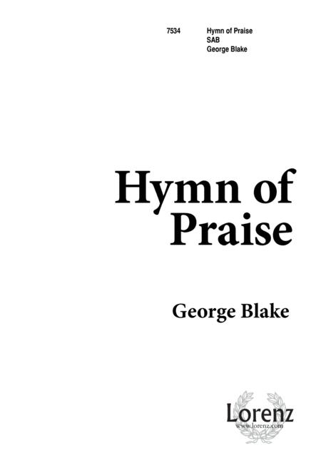 Download Hymn Of Praise Sheet Music By George Blake