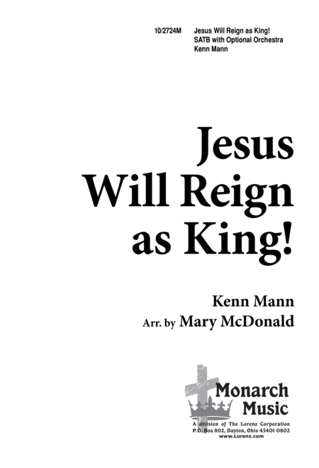 Download Jesus Will Reign As King Sheet Music By Kenn Mann