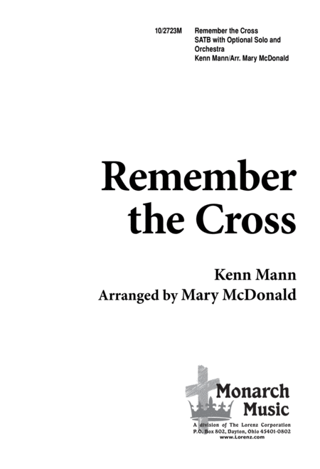 Download Remember The Cross Sheet Music By Kenn Mann