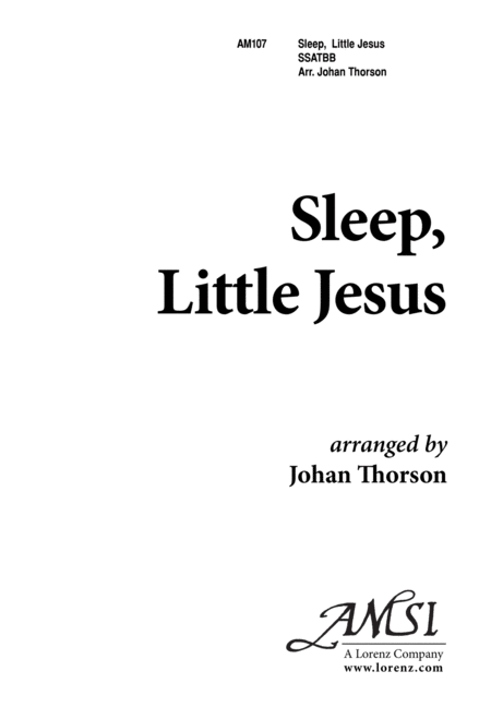 Download Sleep, Little Jesus Sheet Music By Johan Thorson