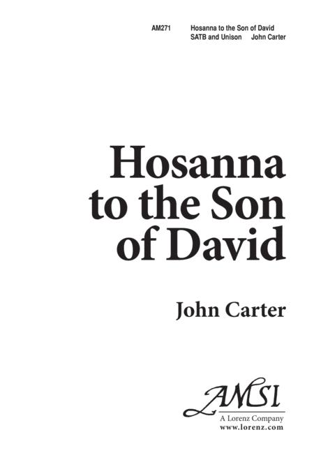 Download Hosanna To The Son Of David Sheet Music By John