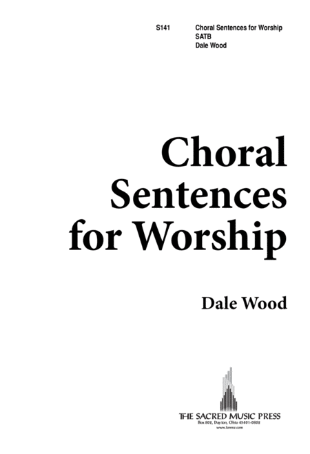 Download Choral Sentences For Worship Sheet Music By Dale