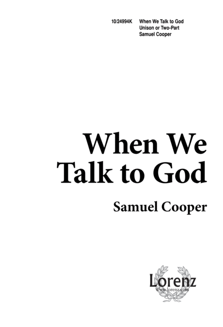 Download When We Talk To God Sheet Music By Gregg Sewell