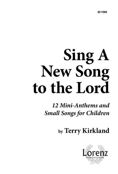 Download Sing A New Song To The Lord Sheet Music By Terry