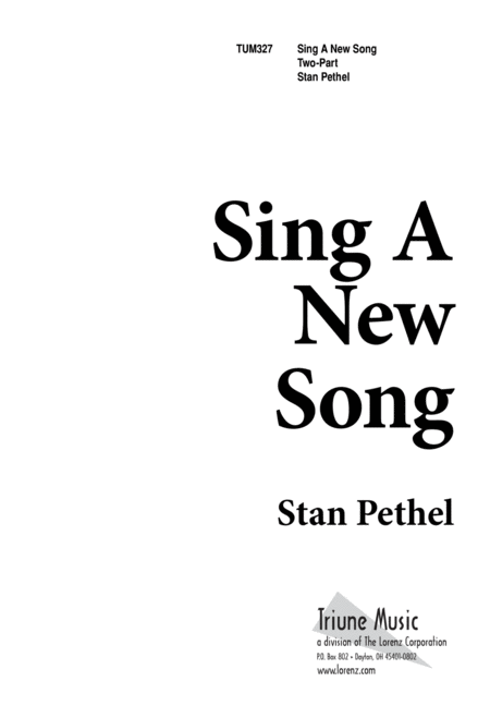 Download Sing A New Song Sheet Music By Stan Pethel