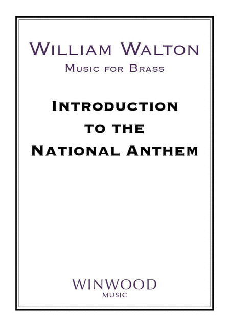 Introduction To The National Anthem Sheet Music By William