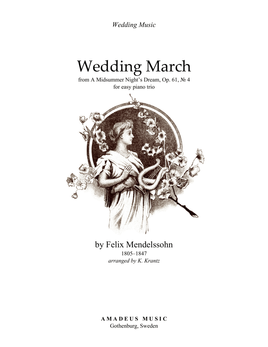 Download Wedding March (easy) For Piano Trio Sheet Music