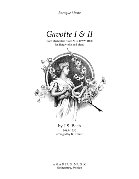 Download Gavotte 1 & 2 From Suite No. 3, BWV 1068 For