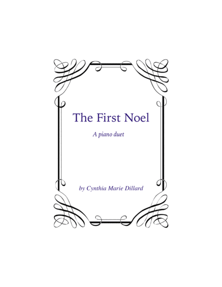 Download The First Noel, A New Christmas Piano Duet Sheet