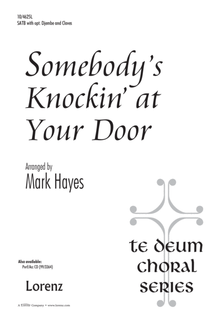 Download Somebody's Knockin' At Your Door Sheet Music By