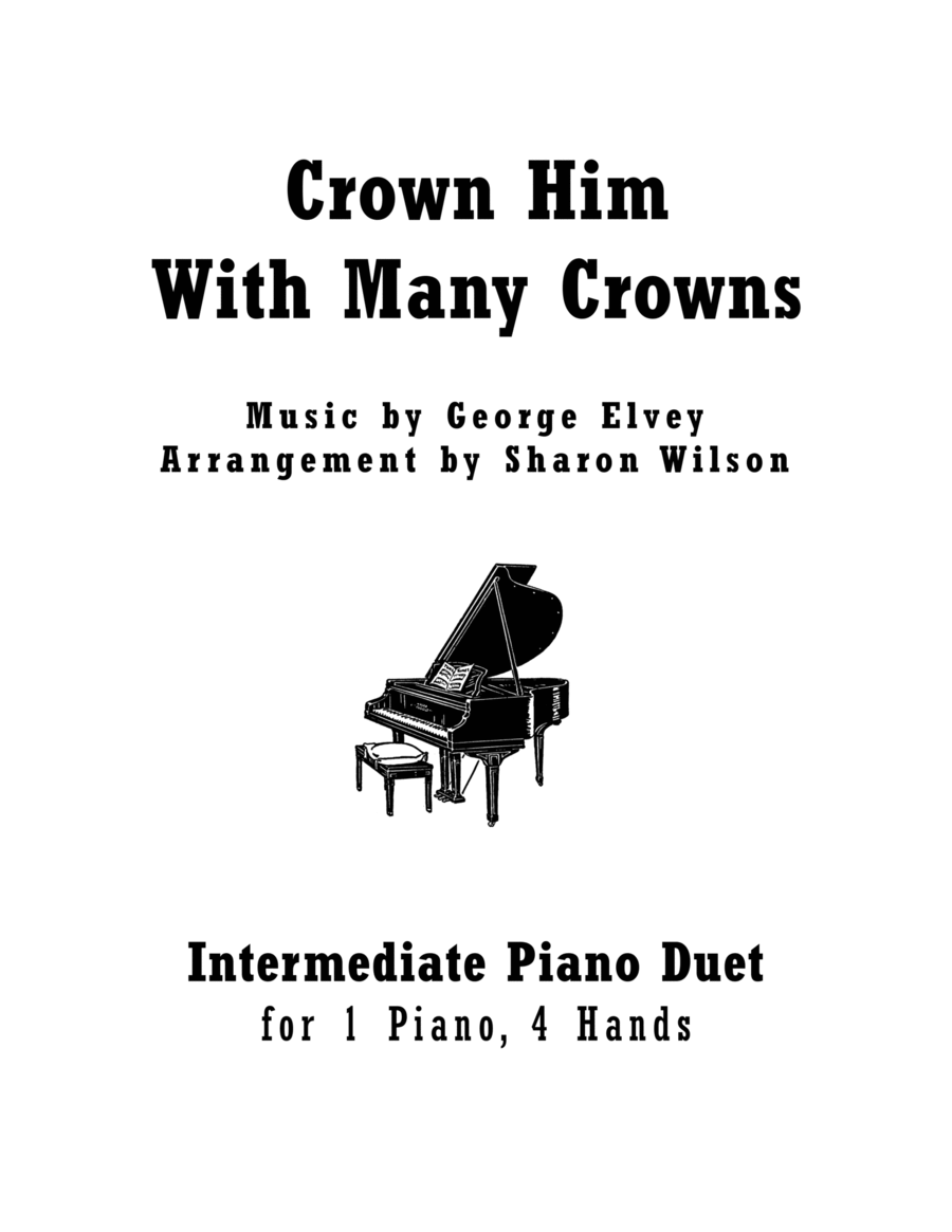 Download Crown Him With Many Crowns (1 Piano, 4 Hands Duet