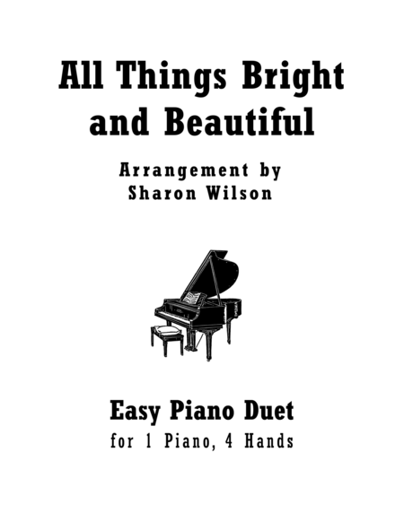 Download All Things Bright And Beautiful (Easy Piano Duet