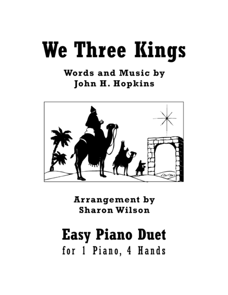 Download We Three Kings (Easy Piano Duet; 1 Piano, 4 Hands