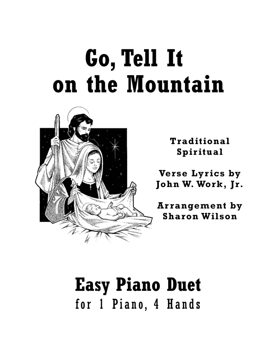 Download Go, Tell It On The Mountain (Easy Piano Duet; 1