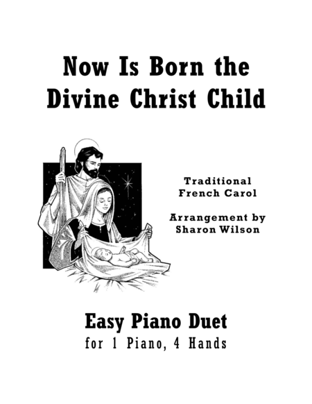 Download Now Is Born The Divine Christ Child (Easy Piano
