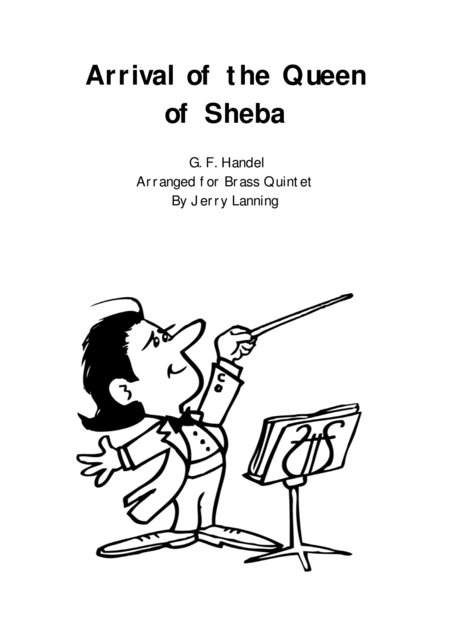Download Arrival Of The Queen Of Sheba (brass Quintet