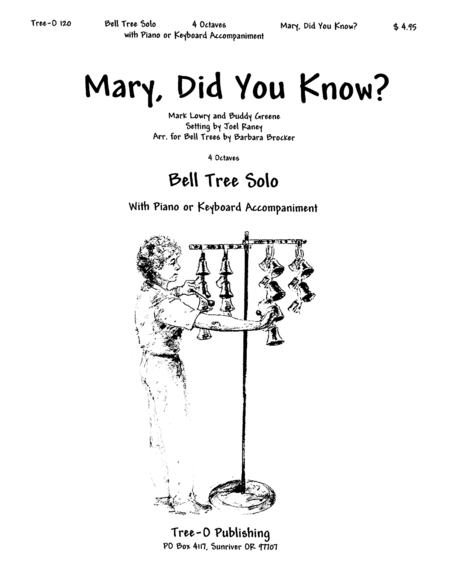Mary Did You Know Sheet Music By Lowry/Greene/Raney