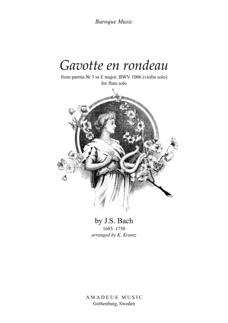 Download Gavotte En Rondeau BWV 1006 For Flute Solo Sheet