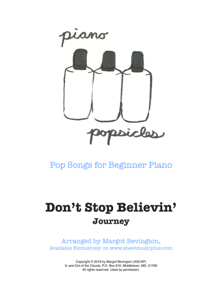 Download Don't Stop Believin' Sheet Music By Journey