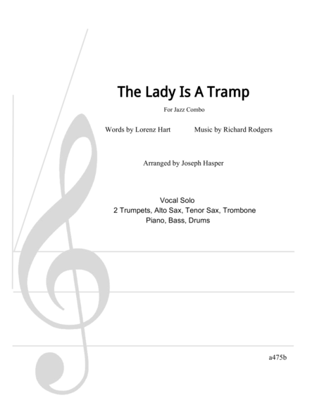 Download The Lady Is A Tramp (Vocal And Large Jazz Combo