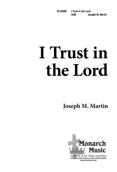 Download I Trust In The Lord Sheet Music By Joseph M