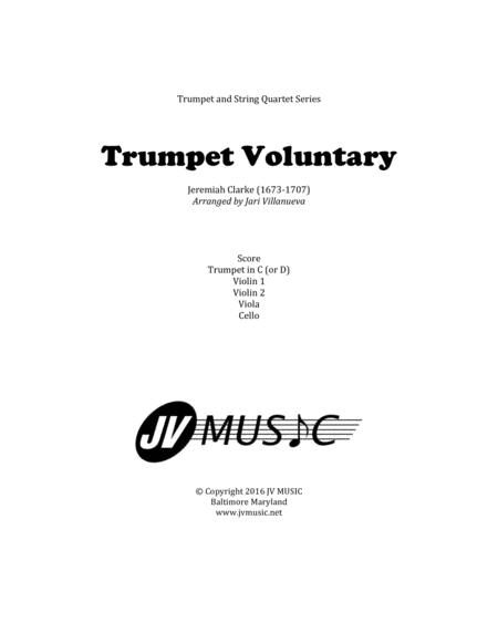 Download Trumpet Voluntary (Jeremiah Clarke) For Trumpet