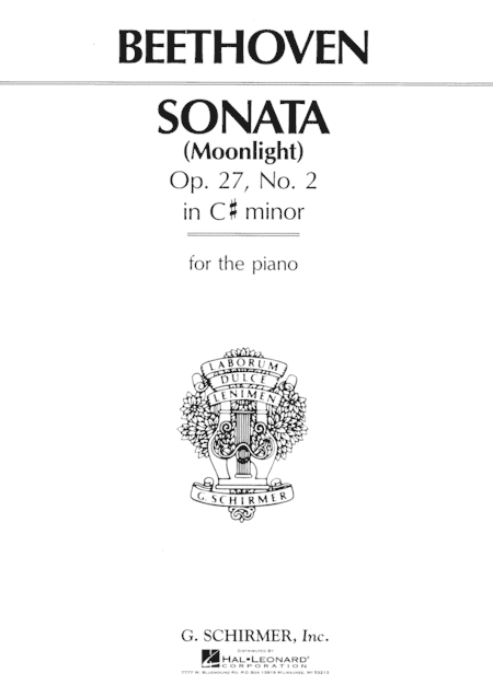 Sonata In C# Minor, Op. 27, No. 2 Sheet Music By Ludwig