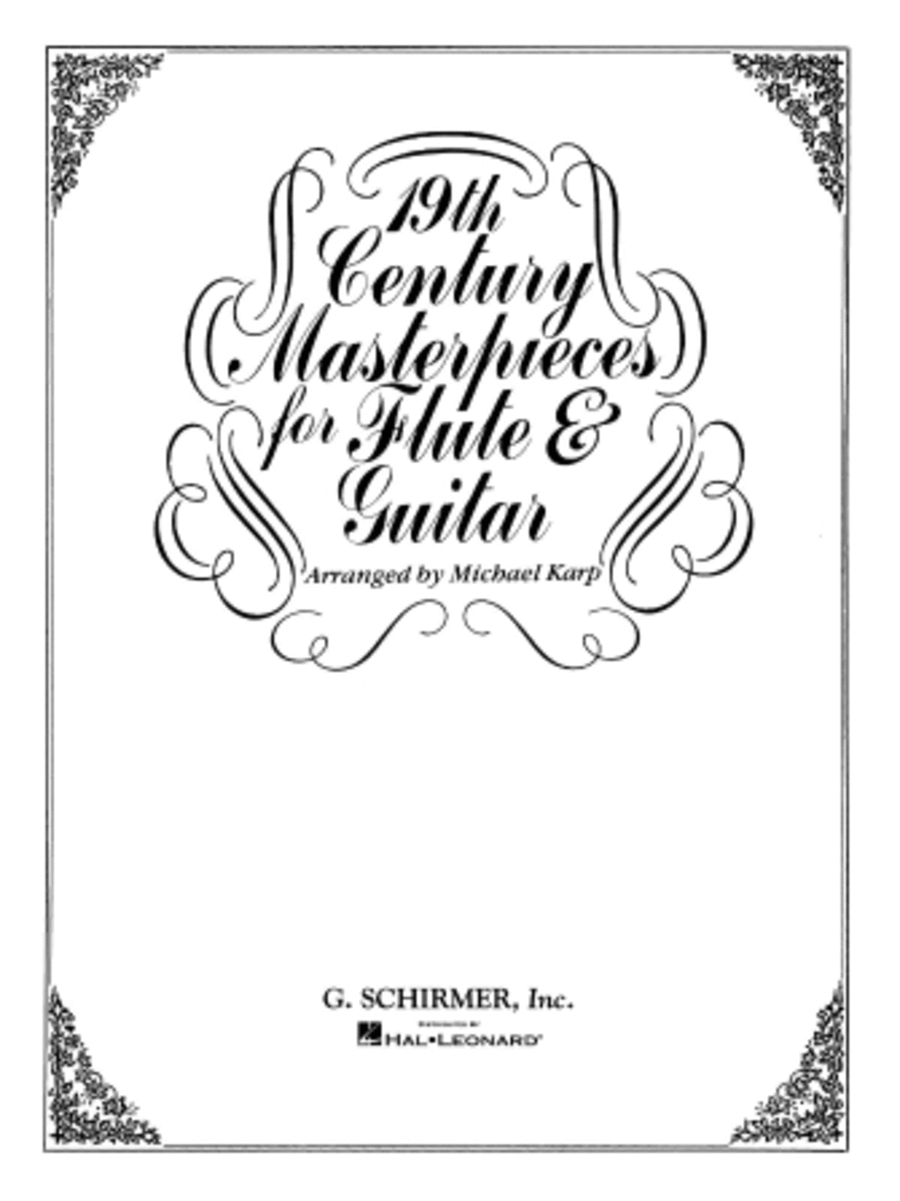 19th Century Masterpieces For Flute And Guitar Sheet Music